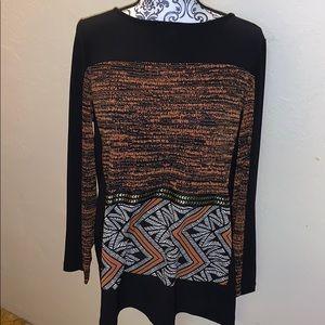NWOT Susan Graver long sleeve knit blouse